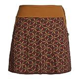 Vishes - Alternative Bekleidung - Damen Baumwoll-Rock, 70er Jahre Retro Facetten, Blumen-Druck, Taschen