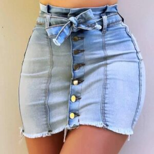 Mini Rock eng - sexy Mini Jeans Rock